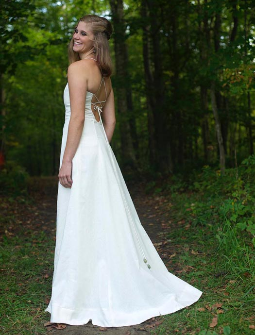 Bohemian Wedding Dress hemp hippie wedding dress