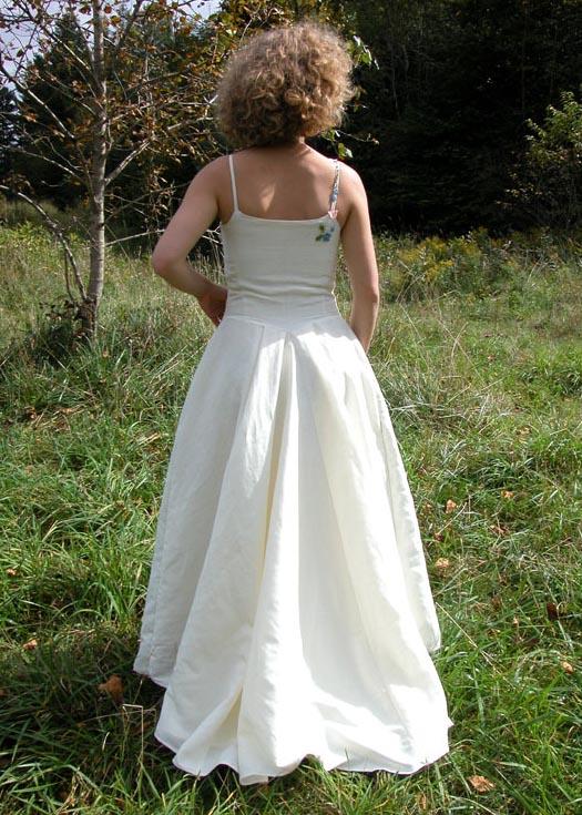 floral hippie wedding dress