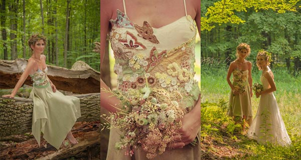 Fairy Wedding Dress | Hand-embroidered with Butterflies | Woodland ...