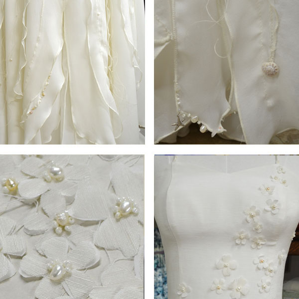 Couture Seashell beaded wedding dress by Tara Lynn