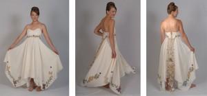 Bohhemian wedding dresses boho wedding dress hemp dress butterflies and lace up wedding dress