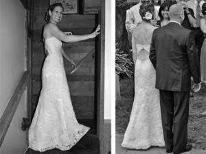 Couture backless lace wedding dress custom wedding dresses eco friendly hemp and organic cotton dresses