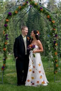 Hemp Silk wedding dress custom wedding dresses non traditional alternative wedding dress