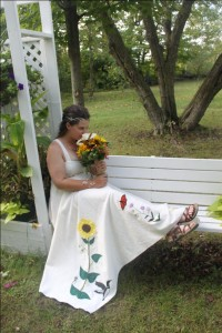 hippie wedding dress bohemian wedding dresses hemp and organic cotton wedding dresses by Tara Lynn Bridal photo by JC Photography