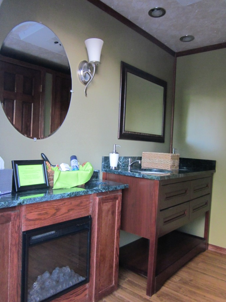 Luxury Event Restrooms Sink Area