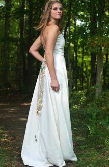Aphrodite   A Bohemian Hemp Wedding Dress