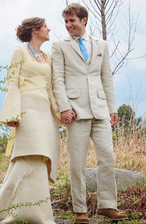 Becca and Gordon's Eco-Friendly Wedding and Custom Hemp Suit
