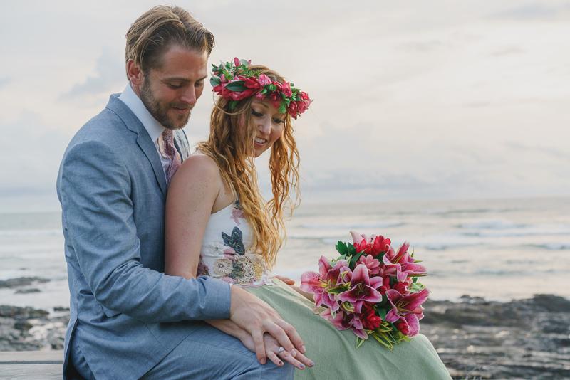 Bohemian Beach Wedding Dress Tara Lynn Green Hemp Silk Embroidered Butterflies Backless Eco-friendly Costa Rica