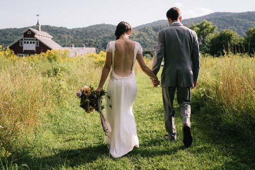 Backless boho wedding dress by Tara Lynn