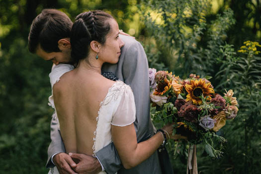 backless bohemian wedding dress by Tara Lynn
