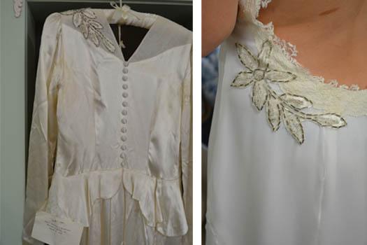 heirloom wedding dress redesigned
