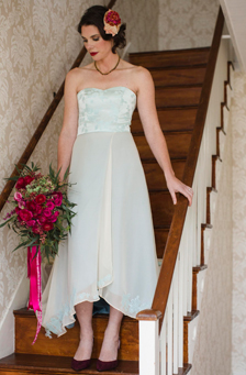 Celeste   A Blue Vintage Wedding Dress