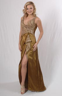 Ashley's Custom Miss. Vermont 2008 Eco-friendly Pageant Gown