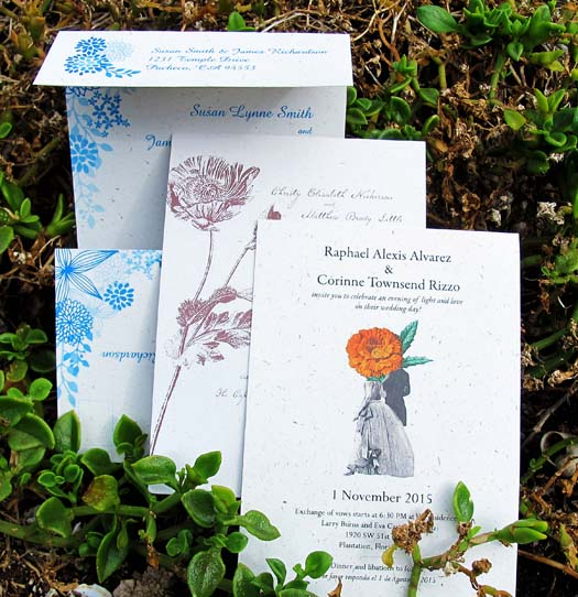 Hemp Wedding Invitations by Greenfield Paper Company