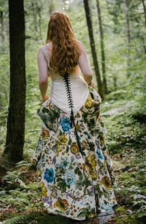 Abela   A Floral Printed Wedding Dress