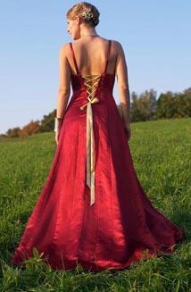 Tatiana   A Luxurious, Hemp-Silk Satin Wedding Dress