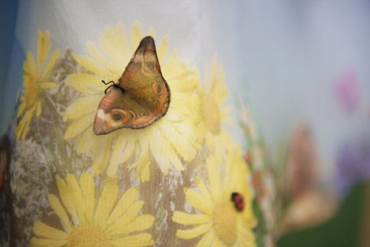 Butterfly printed wedding dress