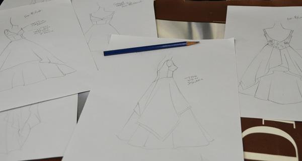 Custom Wedding Dress Sketch by Tara Lynn