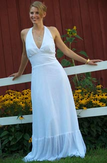 Mariana   A Flowing, Cotton Wedding Dress
