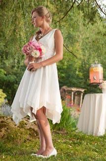 Stella   A Silk, Pixie Wedding Dress