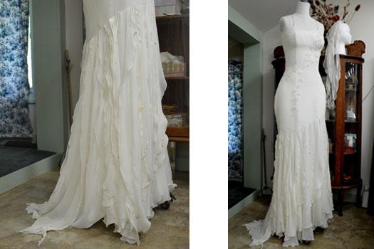 Unique wedding dress by Tara Lynn