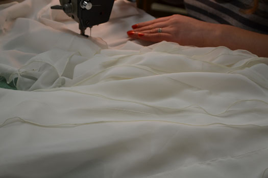sewing a couture wedding dress