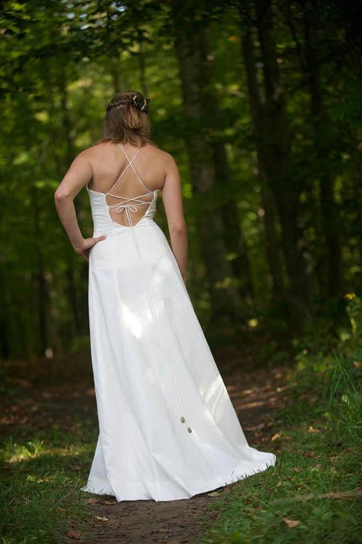 Bohemian wedding dress hemp and organic cotton wedding dress for Organic cotton wedding dress