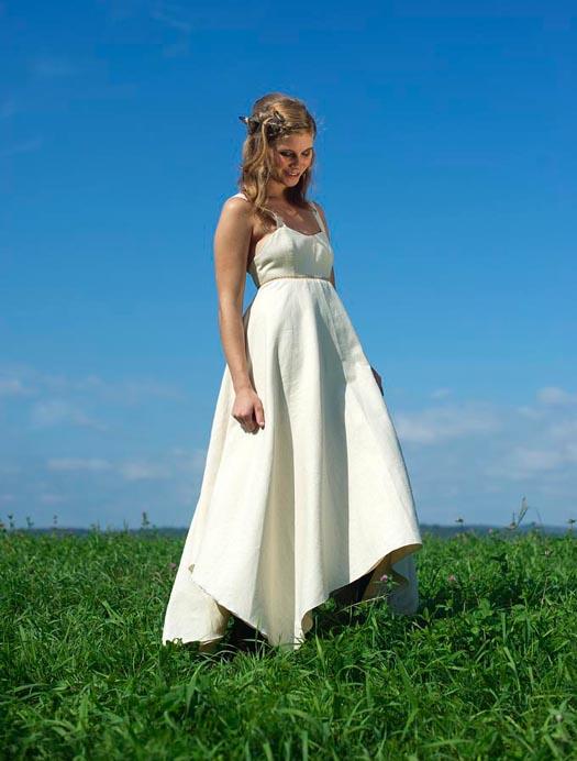 Hippie wedding dress eco friendly hemp dress maya by for Organic cotton wedding dress