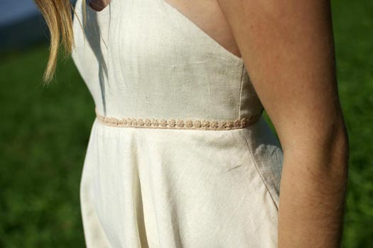 Non Traditional Wedding Dress Boho: Eco-friendly Hemp Dress