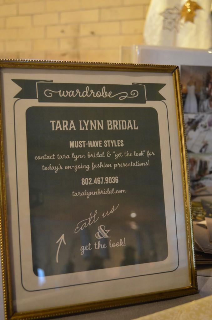 Tara Lynn Bridal Sign