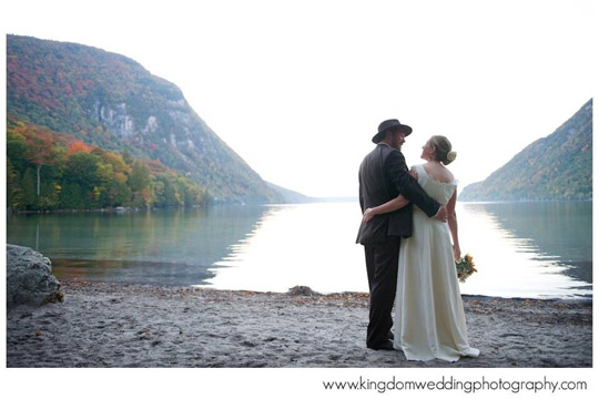 Custom Hemp Wedding Dress for the Beach at Lake Willoughby Vermont made by Tara Lynn