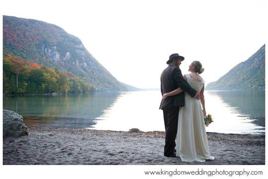 Custom Hemp Wedding Dress for the Beach at Lake Willoughby Vermont made by Tara Lynn