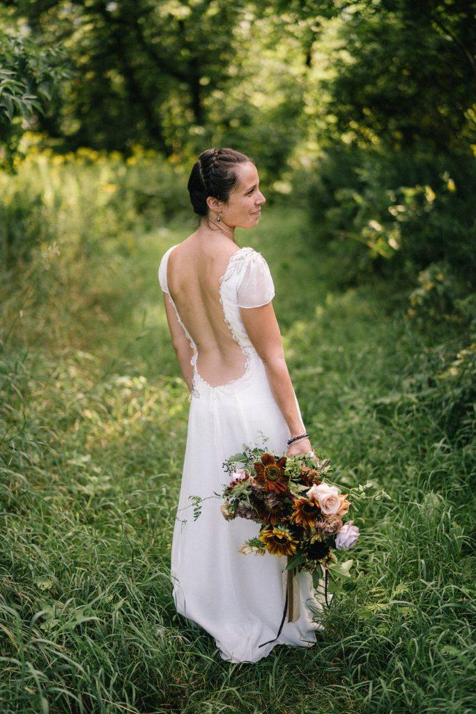 Heirloom wedding dress eco-couture Tara Lynn Bridal