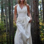 The GORGEOUS Athena wedding dress is made of hemp and silk for your ethical wedding.