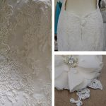 custom lace wedding dress by Tara Lynn