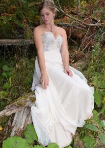 medieval woodland wedding dress