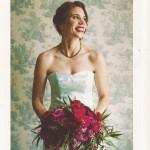VT Bride Magazine, Blue wedding dress, museum wedding, Tara Lynn Bridal