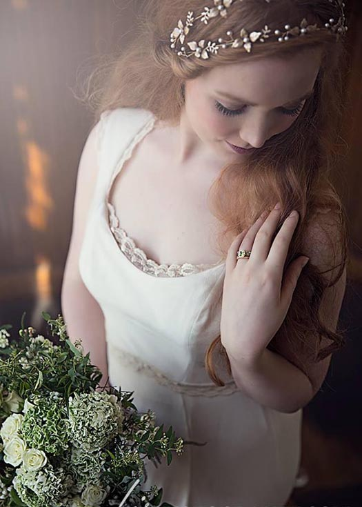 Vermont Bride Features Emerald Love Shoot