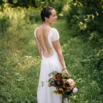 Heirloom wedding dress reborn into a hemp wedding dress by Tara Lynn Bridal