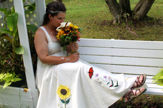 Hippie Wedding Dress by Tara Lynn