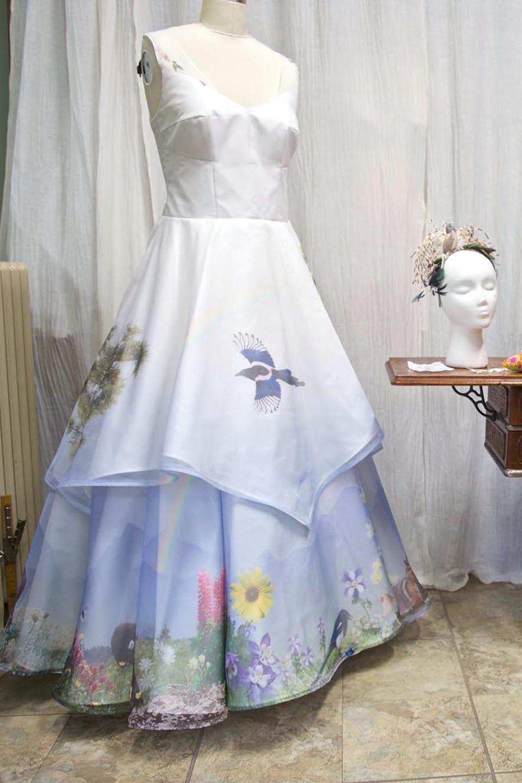 A Heart Warming Custom Printed Wedding Dress Story by Tara Lynn Bridal