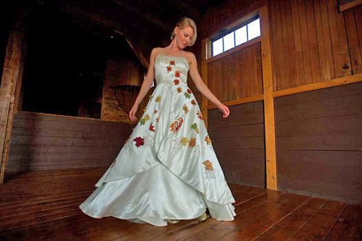 Fall Foliage Wedding Dress