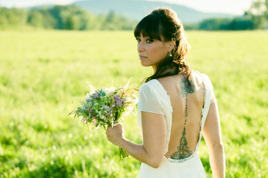 Backless Wedding Dress by Tara Lynn