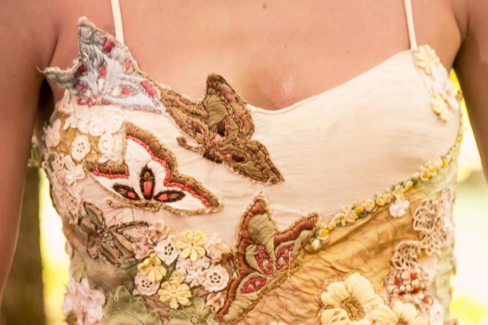 Fairy Wedding Dress | Hand-embroidered with Butterflies | Woodland Fairy