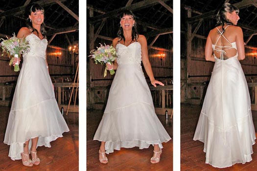 eco Wedding Dress by Tara Lynn
