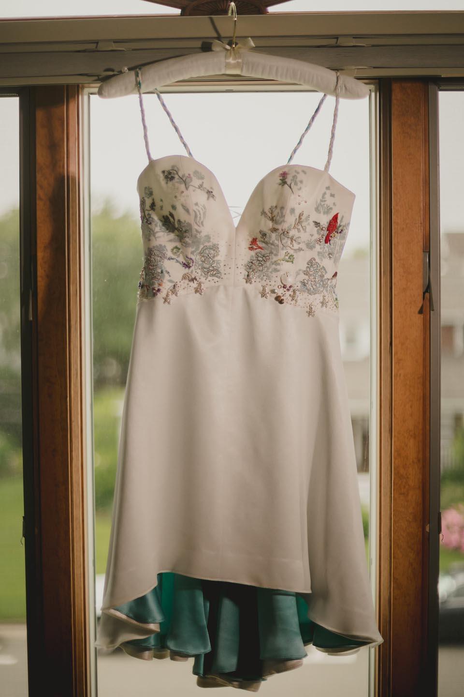 sea life wedding dress