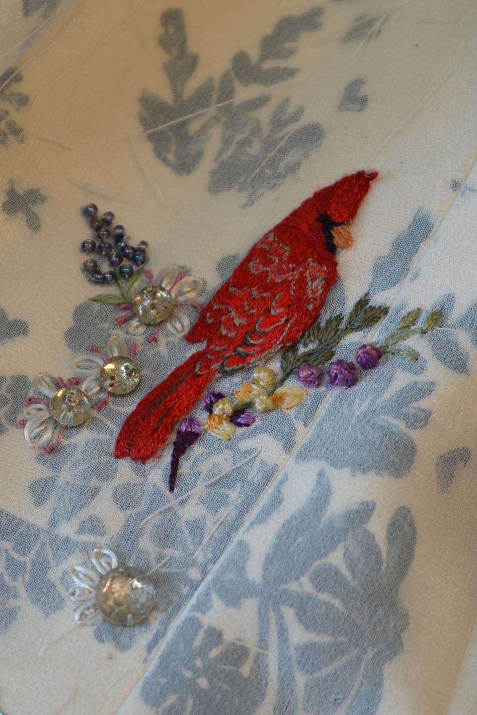 Cardinal Embroidered