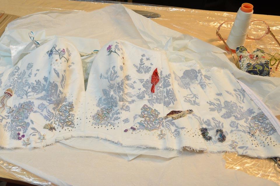 Custom Embroidered Wedding Dress