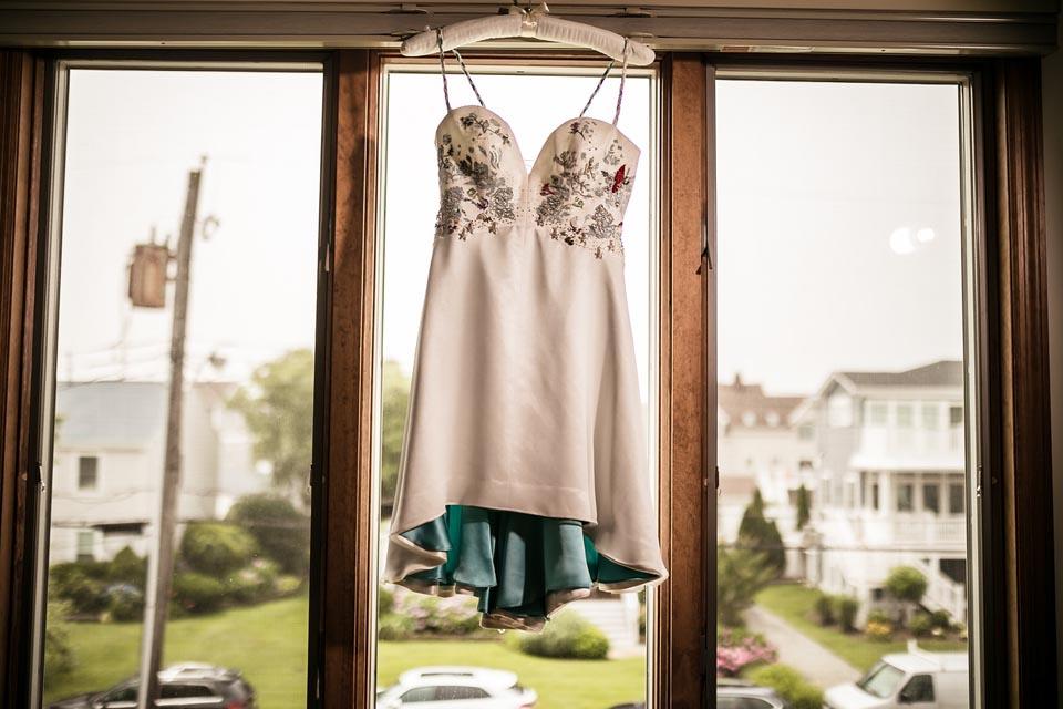 Hand beaded and embroidered wedding dress by Tara Lynn