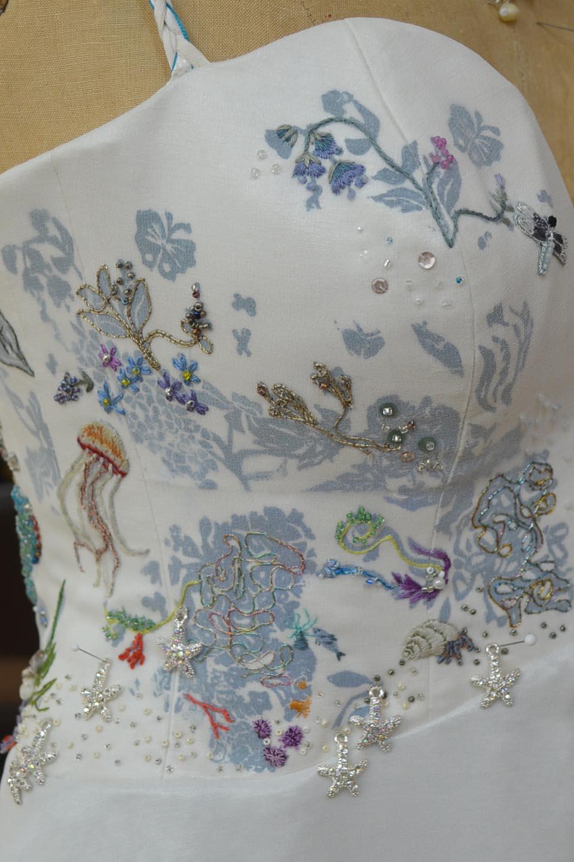 Sea life wedding dress by Tara Lynn